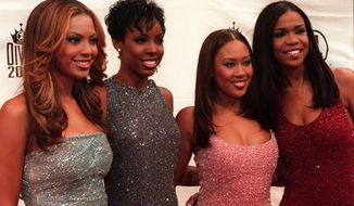 "Former Destiny's Child member Farrah Franklin (second from right), seen here with the group at the ""VH1 Divas 2000: A Tribute to Diana Ross"" in New York on April 9, 2000, was arrested July 20, 2014, in South Carolina for disorderly conduct. (Associated Press)"