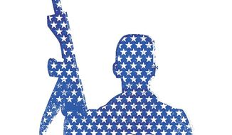 "Illustration on ""Lone Soldiers"" fighting for Israel by Linas Garsys/The Washington Times"