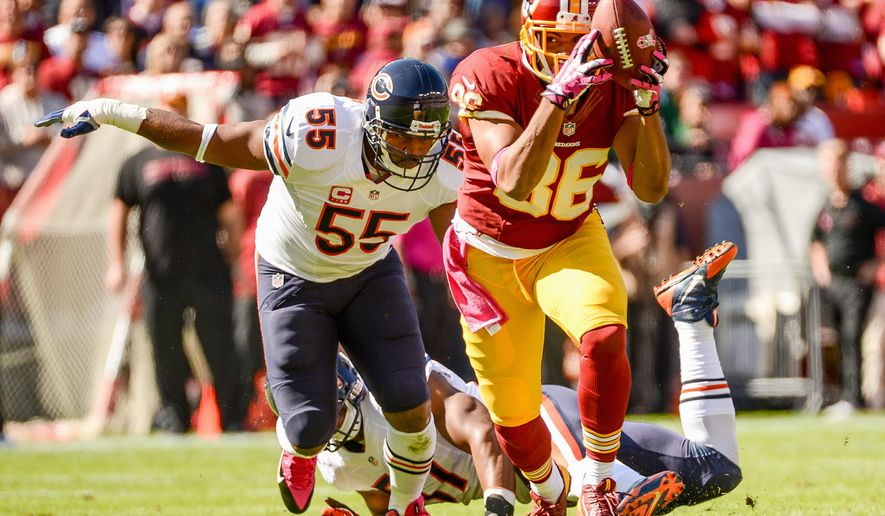 Redskins tight end Jordan Reed (86), who finished second on the team with 45 catches for 499 yards, emerged as a playmaker during a rookie season hampered by injury. (Andrew HARNIK/THE WASHINGTON TIMES)