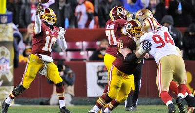 The Redskins have shifted guard Kory Lichtensteiger (78) from left guard to center with the release of former starter Will Montgomery. (The Washington Times)