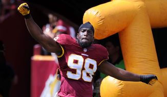 "Redskins outside linebacker Brian Orakpo says when it comes to the last year of his contract, ""throw all that out the window, man. I'm signed for the 2014 season ... I need to go out there and be a force."" (The WASHINGTON TIMES)"