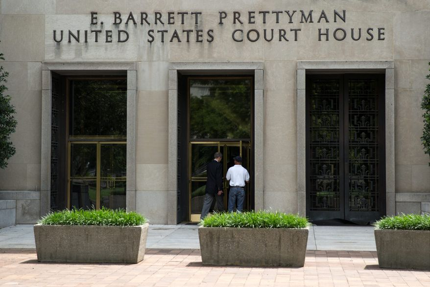 The E. Barrett Prettyman Federal Courthouse that houses the U.S. Court of Appeals for the D.C. Circuit. Obama's health care law is enmeshed in another big legal battle after two federal appeals courts issued contradictory rulings on a key financing issue within hours of each other Tuesday. (associated press)