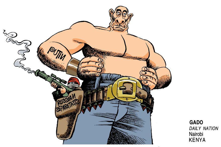 Vladimir Putin           Illustration by Gado/Daily Nation, Nairobi, Kenya