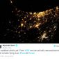 Violence over Israel and Gaza as seen from the International Space Station.  (Image: Twitter, Alexander Gerst)