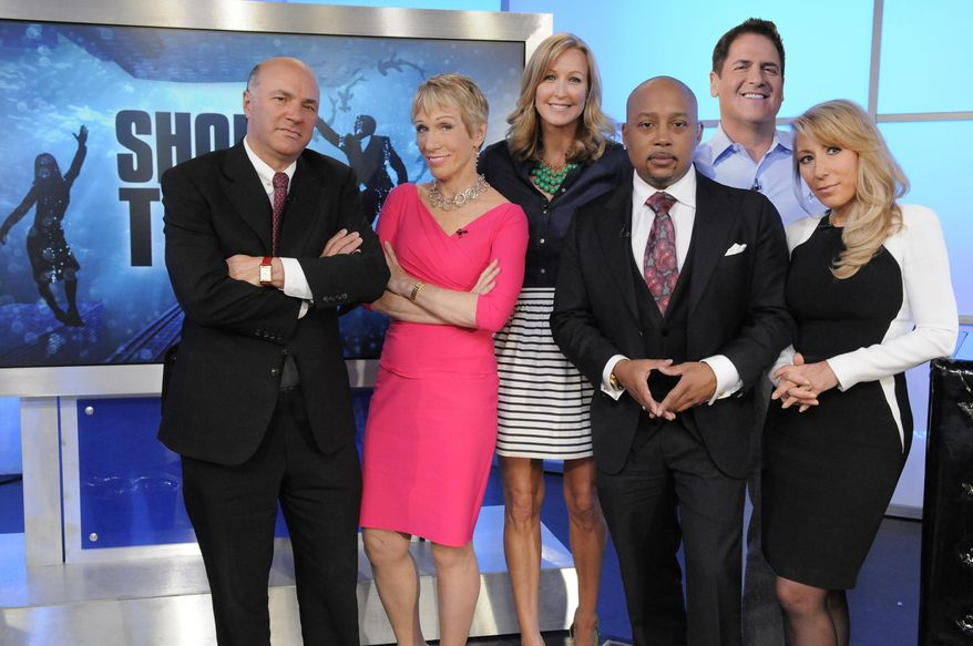 """Shark Tank"" panelist Barbara Corcoran (second from left) testified before the Senate that female entrepreneurs face funding discrimination.  (AP Photo/ABC, Lorenzo Bevilaqua) **FILE**"