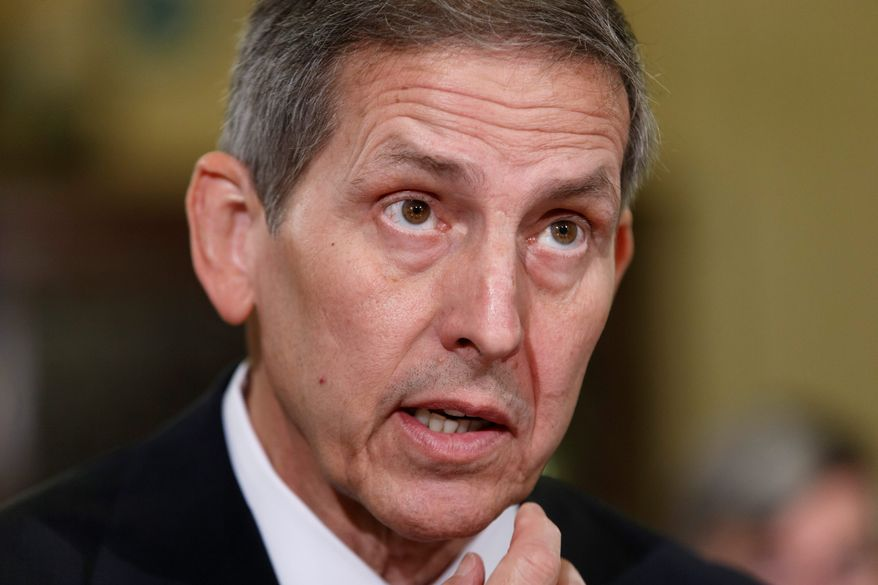 Department of Veterans Affairs Acting Secretary Sloan Gibson testifies Thursday before the House Veterans' Affairs Committee, outlining actions aimed at addressing ongoing agency problems, especially doctored wait lists for medical appointments.