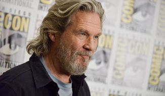 "Jeff Bridges attends ""The Giver"" press line on Day 1 of Comic-Con International on Thursday, July 24, 2014, in San Diego. (Photo by Richard Shotwell/Invision/AP)"