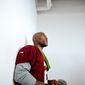 Washington Redskins cornerback DeAngelo Hall (23) waits to speak to members of the media following morning practice on the opening day of Washington Redskins Training Camp at Bon Secours Training Center, Richmond, Va., Thursday, July 24, 2014. (Andrew Harnik/The Washington Times)