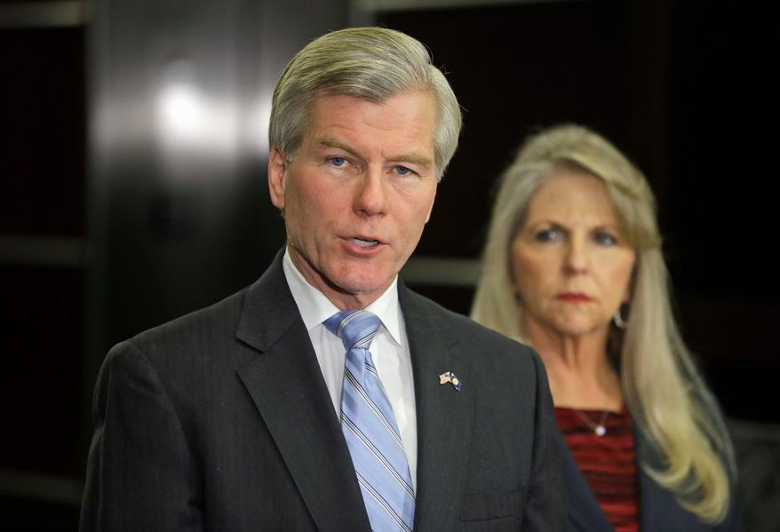 Former Virginia Gov. Bob McDonnell and his wife, Maureen, face federal charges for receiving gifts in exchange for political favors, which the couple denies. (associated press)