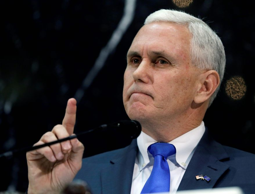 Indiana Gov. Mike Pence (Associated Press) **FILE**