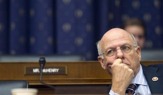 ** FILE ** House Financial Services Committee member Rep. Steve Pearce, R-N.M. listens on Capitol Hill in Washington, Tuesday, Feb. 11, 2014, as Federal Reserve Chair Janet Yellen testifies before the committee. (AP Photo/Cliff Owen)