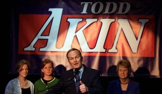 "Former Republican Rep. Todd Akin of Missouri argues he was the victim of a ""political assassination"" and says he stands by point that the probability of pregnancy in the cases of rape are less than it would be otherwise. Shortly after winning his party's nomination for the Senate in August 2012, Mr. Akin said in a radio interview that women's bodies could somehow block an unwanted pregnancy in cases of ""legitimate rape."" (Associated Press)"