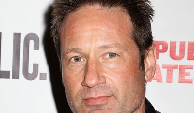 """**FILE** Actor David Duchovny attends the opening night performance of """"The Library"""" at the Public Theater in New York on April 15, 2014. (Greg Allen/Invision/Associated Press)"""