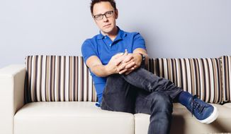 """In this Saturday, July 19, 2014, photo, director James Gunn poses for a portrait at Disney Studios during press day for """"Guardians of the Galaxy"""" in Burbank, Calif.  (Photo by Casey Curry/Invision/AP)"""