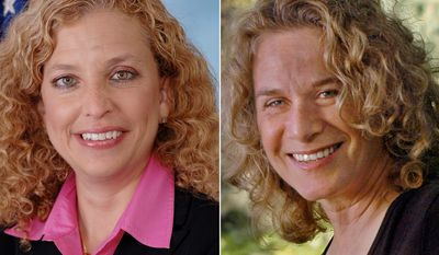 U.S. Representative Debbie Wasserman Schultz (D-FL) and 1970's pop-music icon Carole King.