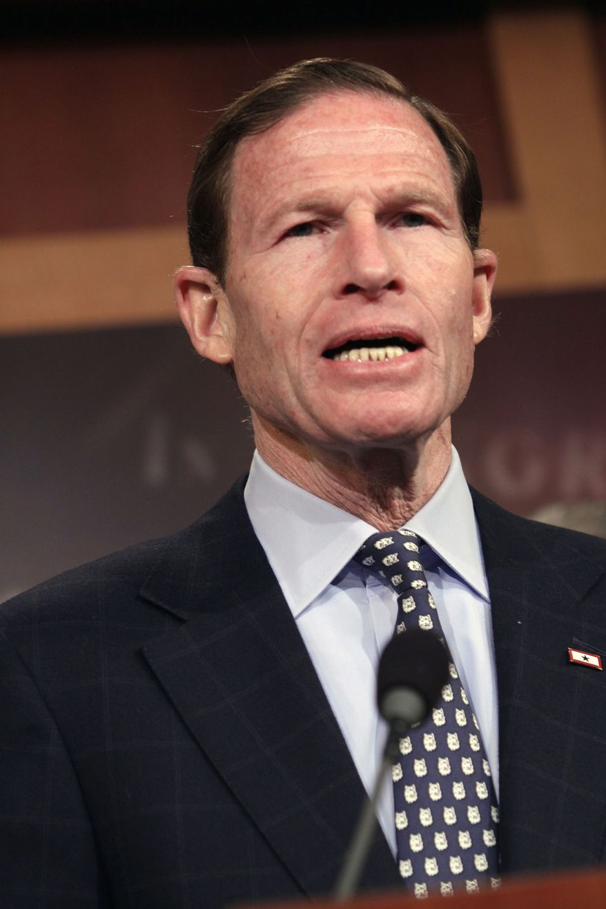 Sen. Richard Blumenthal, Connecticut Democrat, says that the era of victim-blaming for college sexual assaults is over. (Associated Press)