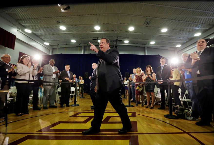 Top Contender: With the Bridgegate scandal seemingly astern, New Jersey Gov. Chris Christie heads to New Hampshire, state of the first-in-the-nation presidential primary, to campaign for a presumed 2016 White House bid. (Associated Press)