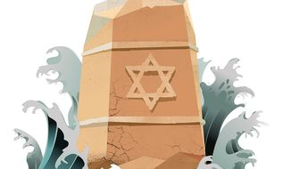 Illustration for Israel's situation in the Mideast by Linas Garsys/The Washington Times