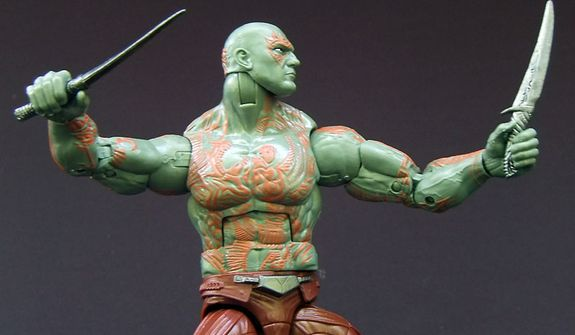 Drax the Destroyer from Hasbro's Marvel Legends Infinite Series Guardians of the Galaxy action figure collection. (Photo by Joseph Szadkowski / The Washington Times)