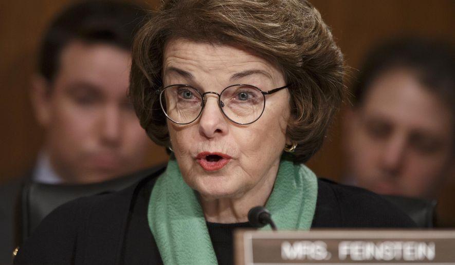 Sen. Dianne Feinstein, California Democrat (AP Photo)