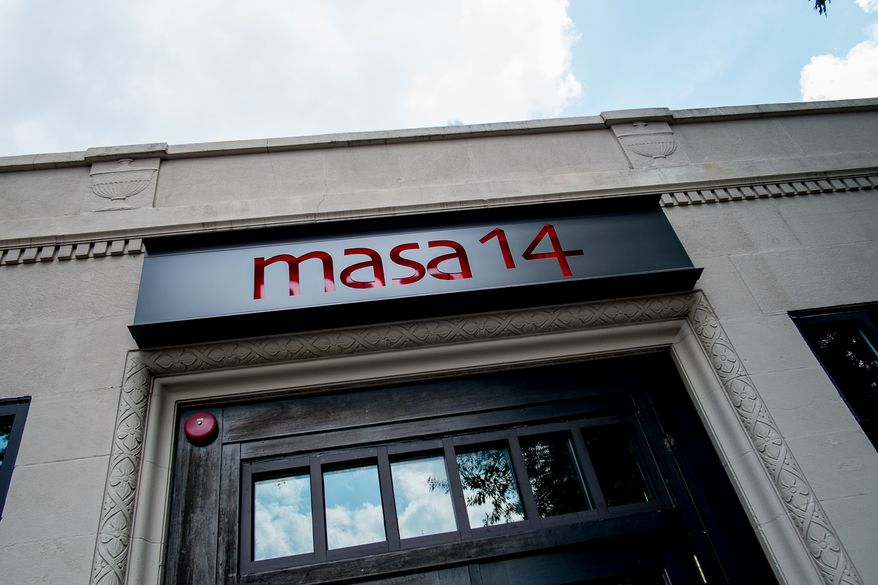 Masa 14 at 1825 14th St. NW, Washington, D.C., Thursday, July 31, 2014. (Andrew Harnik/The Washington Times)