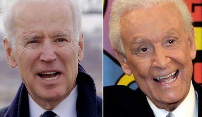 Vice President Joe Biden and 'The Price is Right' host Bob Barker.