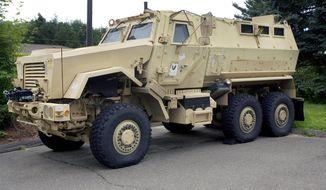 A Mine-Resistant Ambush Protected. (AP Photo/The Republican-American, Steven Valenti)
