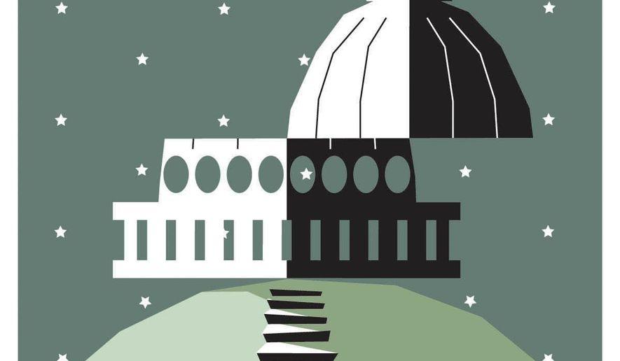 Illustration on the broken Senate by Nancy Ohanian/Tribune Content Agency