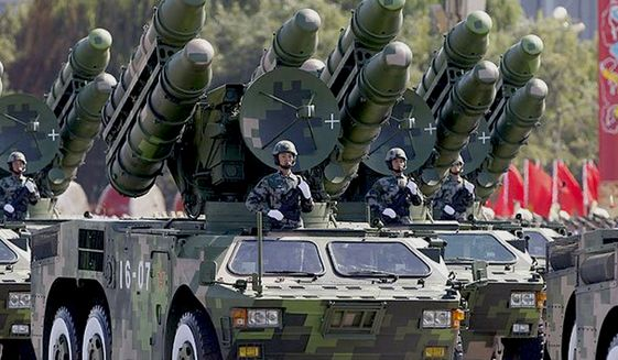 Missiles are displayed during a parade in Tiananmen Square, Beijing, China. (Associated Press) ** FILE **