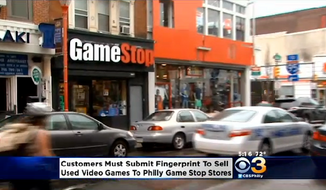 Major video game retailer GameStop is now requiring its Philadelphia customers to provide a fingerprint scan when they try and sell used games. (CBS 3 Philly)