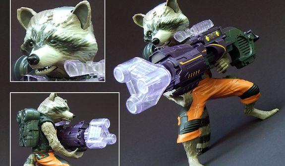 Hasbro's Big Blastin' Rocket Raccoon (Photo by Joseph Szadkowski / The Washington Times)