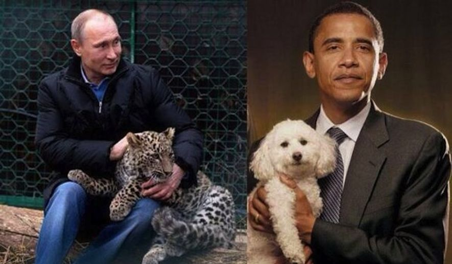 Russian Deputy Prime Minister Dmitry Rogozin took a swipe at President Obama's masculinity on Thursday after the U.S. leader announced long-threatened sanctions meant to cripple the Russian economy. (Twitter/Dmitry Rogozin)