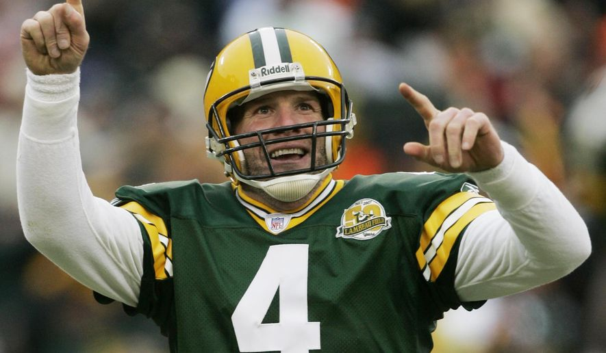 2eca0cb102e Packers will retire Favre's jersey on Thanksgiving - Washington Times