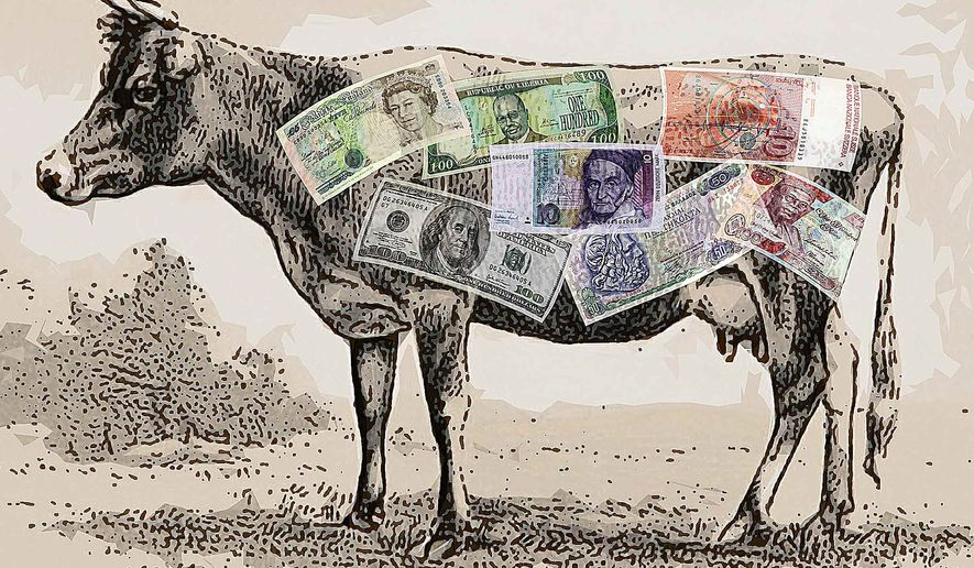 Jersey Cash Cow Illustration by Greg Groesch/The Washington Times