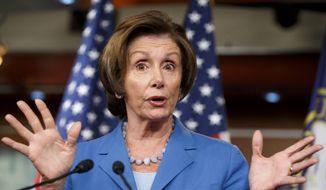 House Minority Leader Nancy Pelosi, California Democrat (Associated Press) **FILE**