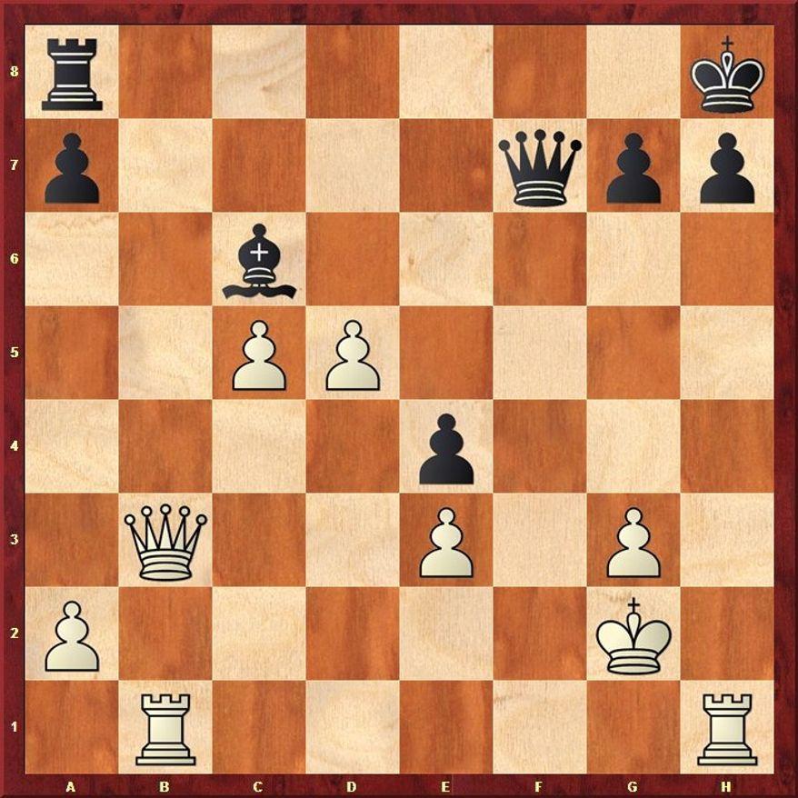 Norman-Hansen-Rivarola after 34...Qf7.