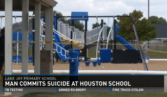 Parents at Lake Joy Primary School, in Warner Robins, have been informed that their children may have seen a dead body after a 19-year-old man was found hanging from the school's playground as first-graders were on their way to recess. (13 WMAZ)