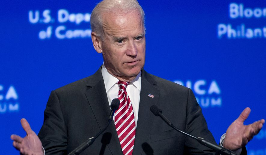 Vice President Joe Biden speaks during the U.S.-Africa Business Forum at the U.S.-Africa Leaders Summit, Tuesday, Aug. 5, 2014, at the Mandarin Oriental Hotel in Washington. Nearly 50 African heads of state are gathering in Washington for an unprecedented summit. (AP Photo/Jacquelyn Martin)