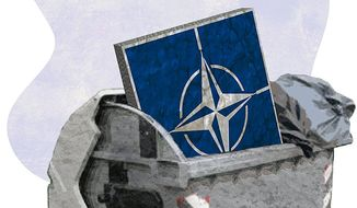 NATO irrelevance Illustration by Greg Groesch/The Washington Times