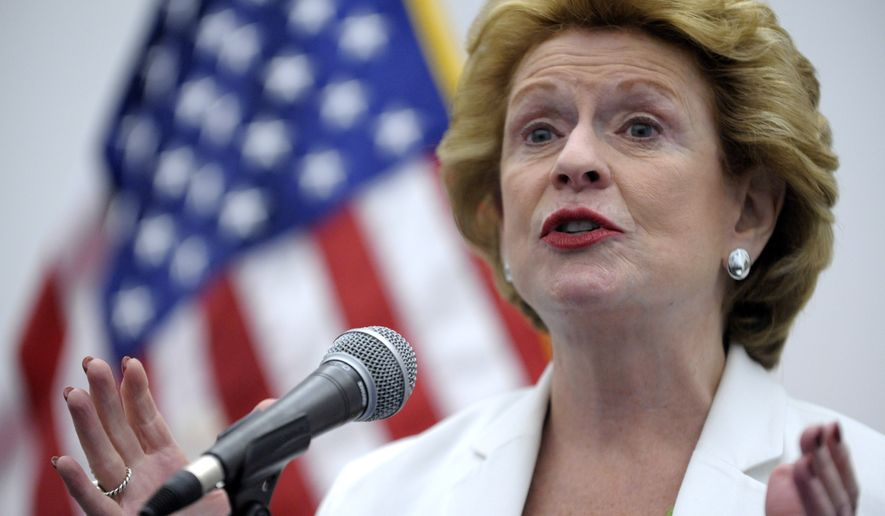 U.S. Senator Debbie Stabenow addresses attendees during the Michigan Democratic Party Unity Breakfast at the McGregor Memorial Conference Center at WSU Wednesday, Aug. 6,  2014 in Detroit.   Michigan's election campaign will turn quickly from a primary that launched a changing of the guard in the state's congressional delegation to the main event of Republican Gov. Rick Snyder's bid for re-election after an active first term and an open U.S. Senate contest that could have national implications. (AP Photo/Detroit News, Todd McInturf)  DETROIT FREE PRESS OUT; HUFFINGTON POST OUT