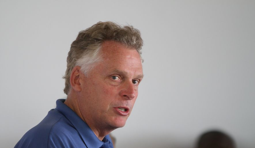 Virginia Gov. Terry McAuliffe. (AP Photo/Skip Rowland) ** FILE **