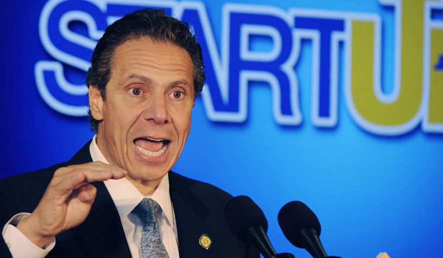 Gov. Andrew M. Cuomo faces a New York Democratic Party primary challenge to his renomination for a second term from a liberal political-science professor. (Associated Press)