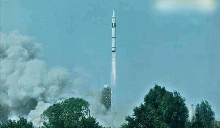 A Chinese CSS-4 ICBM missile launch.