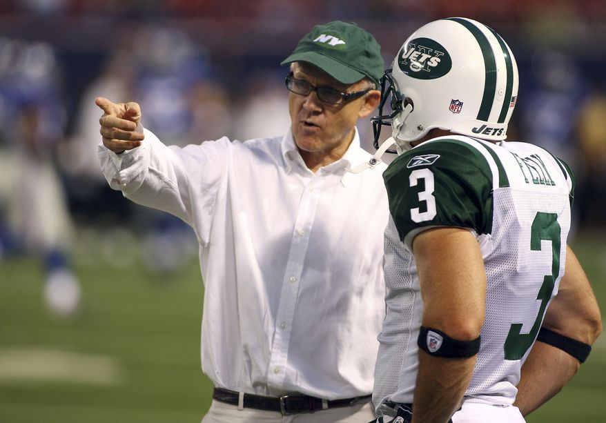 WOODY JOHNSON-supported Mitt Romney during Romney's presidential campaign. Woody Johnson, owner of the New York Jets talks to New York Jets PK Jay Feely before they play the New York Giants Saturday, Aug. 29, 2009  in East Rutherford, N.J.  (AP Photo/Tim Larsen)