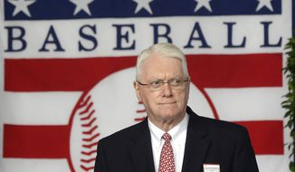 Jim Bunning, former MLB pitcher and Hall of Famer, was a U.S. senator from the state of Kentucky. Bunning is seen during the Baseball Hall of Fame induction ceremony on Sunday, July 28, 2013, in Cooperstown, N.Y. (AP Photo/Mike Groll) ** FILE **