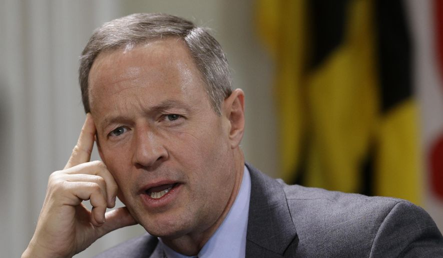 Maryland Gov. Martin O'Malley. (AP Photo/Patrick Semansky, File)