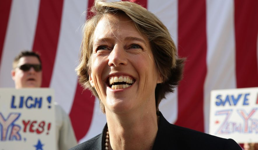 In this Aug 7, 2014 photo, Fordham University law professor and liberal activist Zephyr Teachout speaks to supporters in the Brooklyn borough of New York before appearing in court where she faces a residency challenge designed to prevent her Democratic Primary challenge to Gov. Andrew Cuomo. Teachout, who resides in Brooklyn, said she spends summers in Vermont because her family lives there but said the residency challenge is unfounded. A decision is expected in a few days. (AP Photo/Peter Morgan)