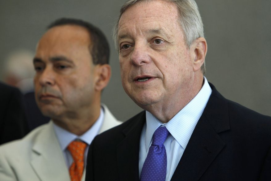 Majority Whip Richard Durbin, Illinois Democrat, said that the U.S. cannot become more involved with the crisis in Iraq by putting troops on the ground. (AP Photo/Stacy Thacker, File)