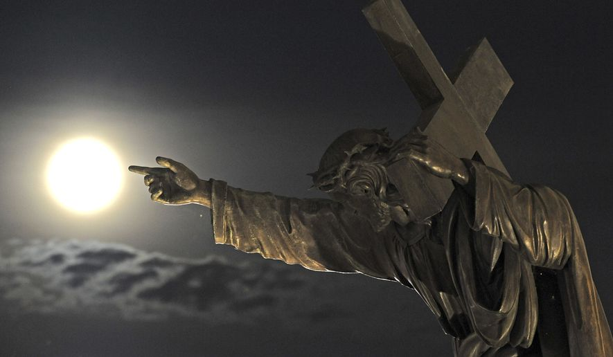 """""""Christian involvement and concern for all things is rooted in their knowledge and love for Jesus Christ, whose life—before his birth and after his death—is perhaps the most political of anyone's who has ever lived,"""" writes Bethany Blankley.  (AP Photo/Alik Keplicz)"""