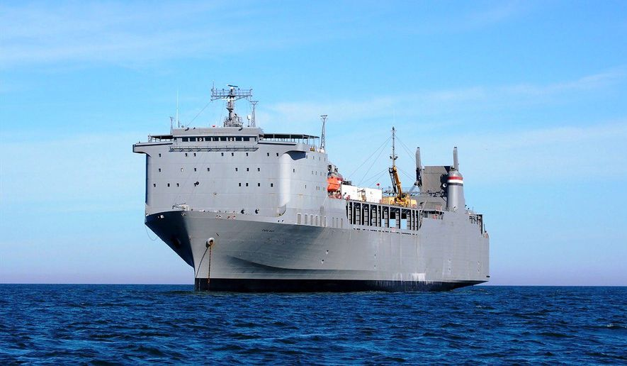 The determined military and civilian specialists aboard the specially fitted MV Cape Ray container ship have now destroyed three-fourths of the chemical weapons from Syria. (Department of Transportation)